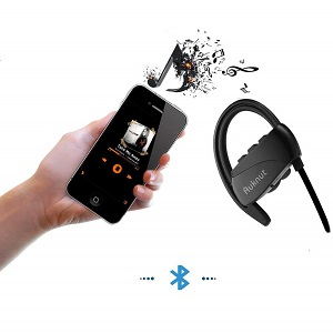 black bluetooth headset